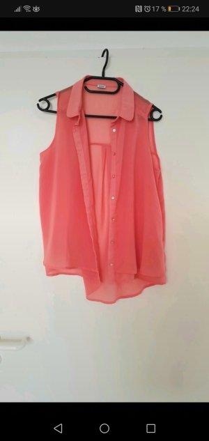 Pimkie Mouwloze blouse abrikoos-zalm