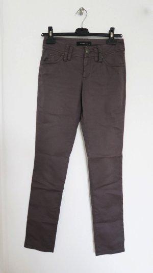 Hallhuber Drainpipe Trousers dark grey-grey