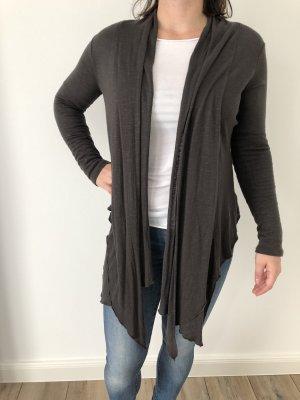 Veste en tricot gris anthracite