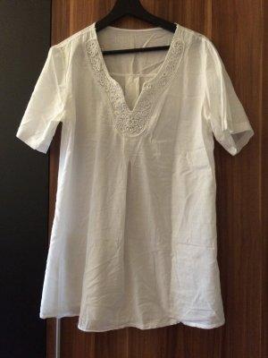 Dünne weiße bluse strandkleid größe 40 42 m l neu oversize