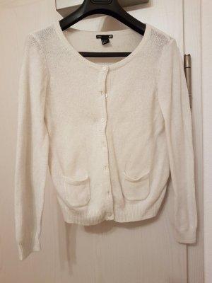 Dünne, Weiße Strickjacke von H&M (S) in Weiß