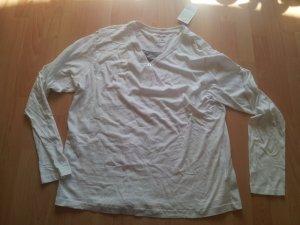 dünnen Pullover weiß mit grau Gr. XXL Gr. 54 NEU