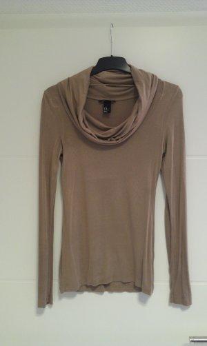 Cowl-Neck Shirt beige