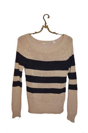 Dünner gestreifter Pullover