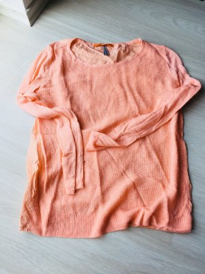 Boss Orange Pullover all'uncinetto arancione chiaro-arancione