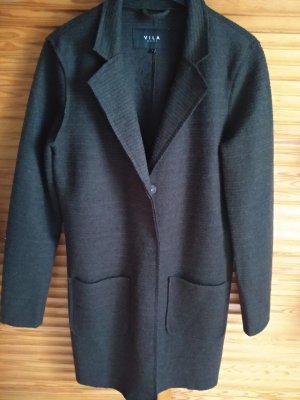 Vila Short Coat dark green-dark brown polyester