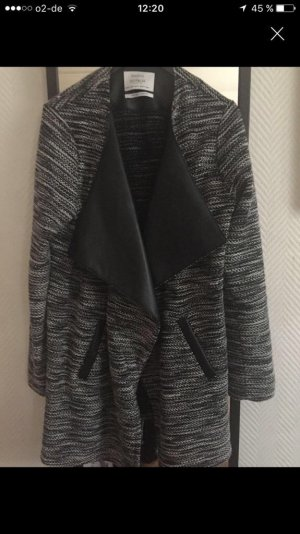 Dünner Mantel grau schwarz