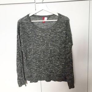 dünner melierter Pullover