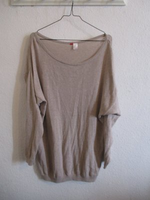 Dünner Oversize Pullover in Beige