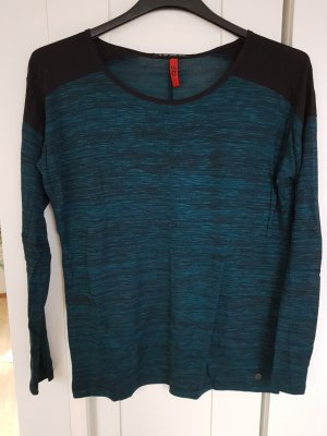 QS by s.Oliver Sweater zwart-petrol