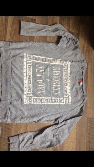 H&M Jersey largo blanco-color plata
