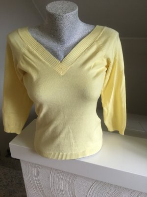 Dünner Pulli/ Shirt, hellgelb, Größe M