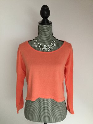 24Colours Kraagloze sweater neonoranje-oranje