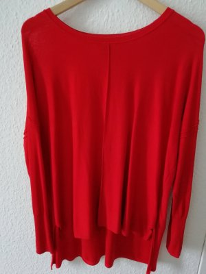 H&M Long Sweater red viscose