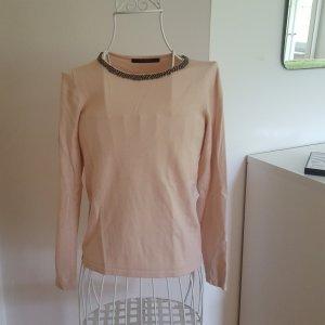 Dünner Pullover mit besticktem Kragen