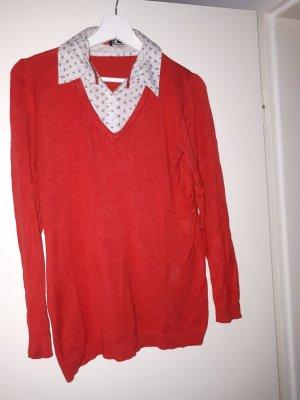 dünner Pullover mit Blümchenkragen 42