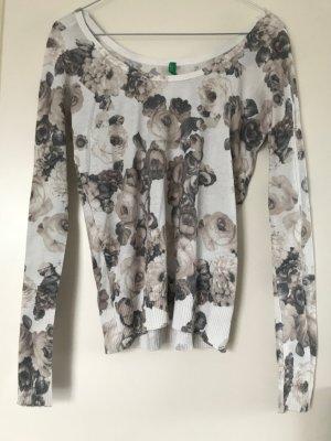 dünner Pullover mit Blumenmuster
