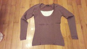 Dünner Pullover mit Bluseneinsatz