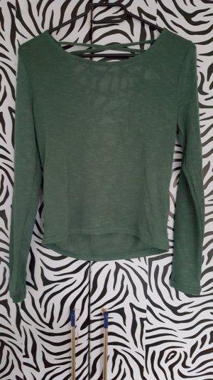 dünner Pullover mit Rückenausschnitt