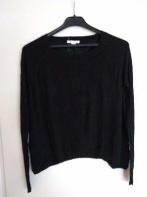 Dünner Pullover schwarz Gr. XS, Duffy, langarm, rundhals, mittag Naht