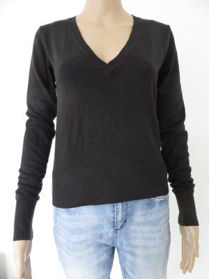 dünner Pullover, schwarz, Größe S/M, Benetton,