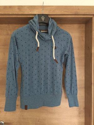 Naketano Capuchon sweater staalblauw-korenblauw