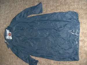 Zware regenjas donkerblauw Nylon