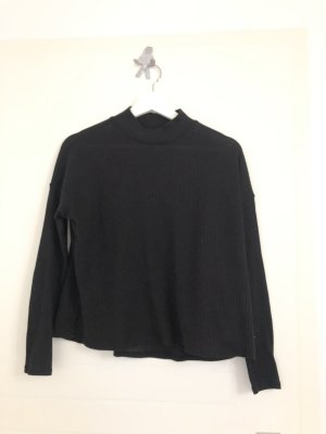 Dünner Rollkragen Pullover schwarz