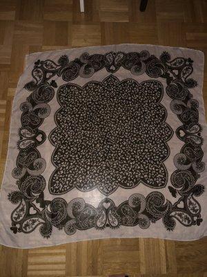 Dünner Schal schwarz, weiß mit Muster