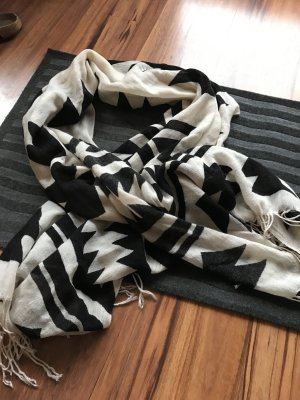 H&M Bufanda negro-crema
