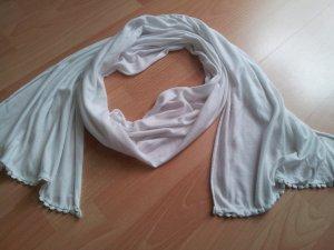dünner Schal weiß Sommerschal