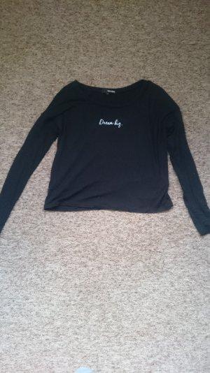 """Dünner schwarzer Pullover mit Aufschrift """"Dream Big"""""""
