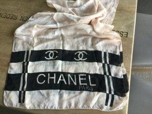 Dünner Seidenschal von Chanel in nudefarben