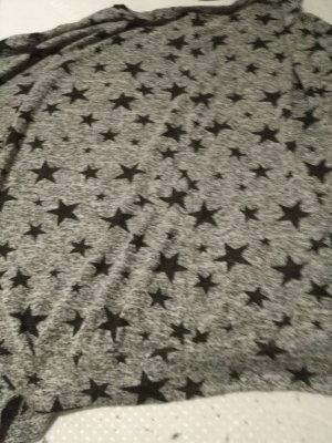 dünner Sternen Pulli große XL Farbe grau