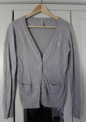Fishbone Top lavorato a maglia grigio chiaro-grigio