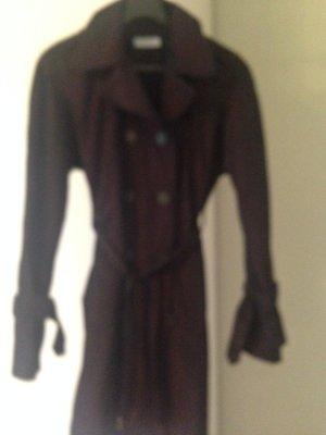 Blue Strenesse Trenchcoat bruin-paars-zwart Polyester