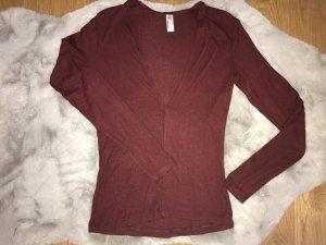 Dünner V-Ausschnitt Pullover