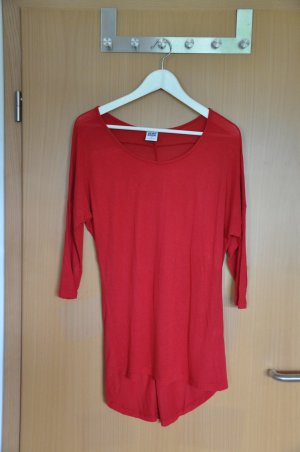 Dünnes 3/4-Armshirt in rot