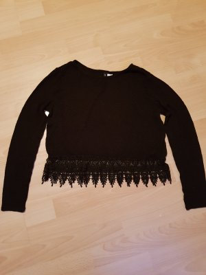H&M Lace Top black
