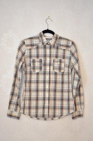 Dünnes Holzfällerhemd Bluse H&M NEU Sandfarben Grunge