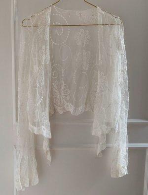 Zara Veste cache-coeur blanc