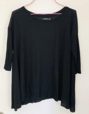 Bershka Ribbed Shirt black