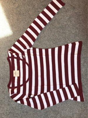 Hollister Stripe Shirt white-bordeaux