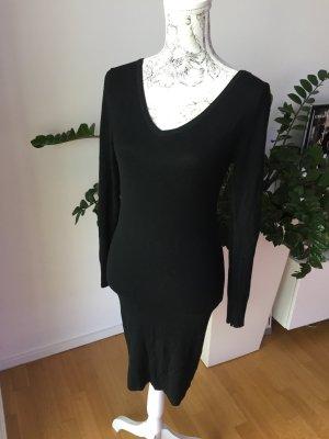Dünnes schwarzes Strickkleid Kleid schwarz Gr S