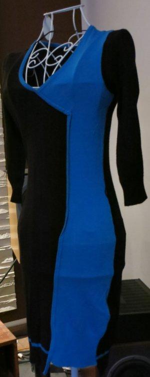 Orsay Vestido tipo jersey azul-negro Viscosa
