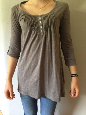 Dünnes Sweatshirt mit krempelbaren 3/4 Ärmeln