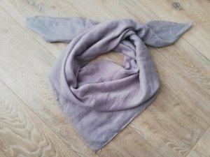 Écharpe à franges bleu pâle tissu mixte
