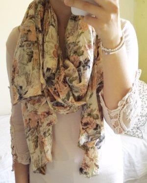 dünnes Tuch/Schal mit Blumenmuster von New Yorker