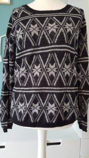 Maison Scotch Norwegian Sweater light grey-dark grey