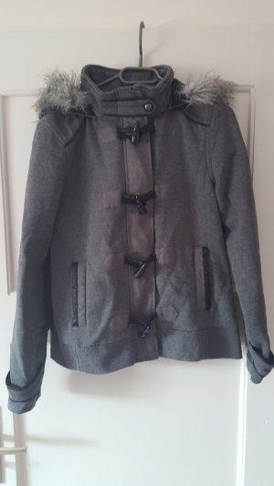 Biaggini Duffel Coat grey mixture fibre